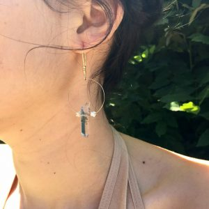 Skin x Bones Elsa w/ Phantom Quartz x Snake Vertebrae Earrings
