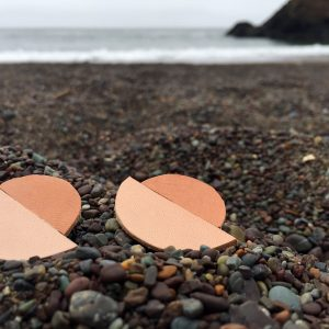 Skin x Bones Skin Tone Leather Sunset Studs