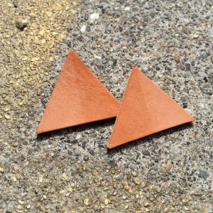 Skin x Bones Skin Tone Leather Triangle Studs